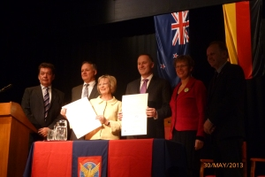 launch of Ashburton Ashburton College in May 2013 with the Prime Minister and German Ambassador.